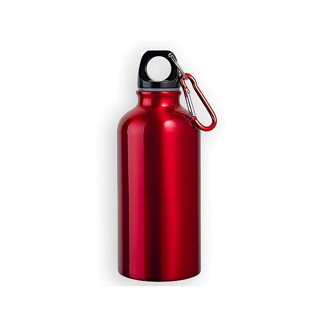 BARAC II hliníková outdoorová láhev, 400 ml, Červená - červená