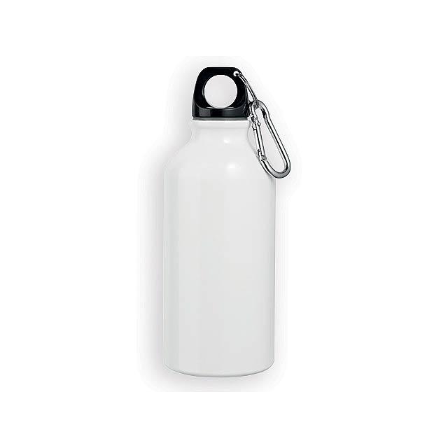 BARAC II hliníková outdoorová láhev, 400 ml, Bílá - bílá