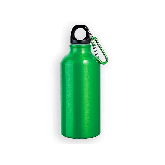 BARAC II hliníková outdoorová láhev, 400 ml, Světle zelená - zelená