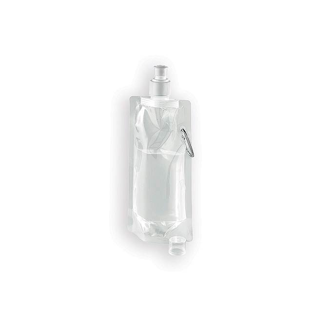 DONATA II plastová skládací láhev, 460 ml, Bílá - bílá