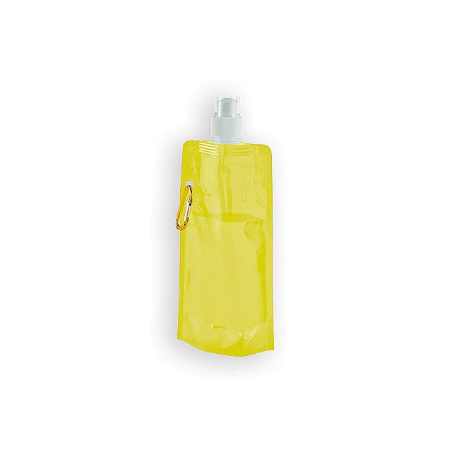 DONATA II plastová skládací láhev, 460 ml, Žlutá - žlutá