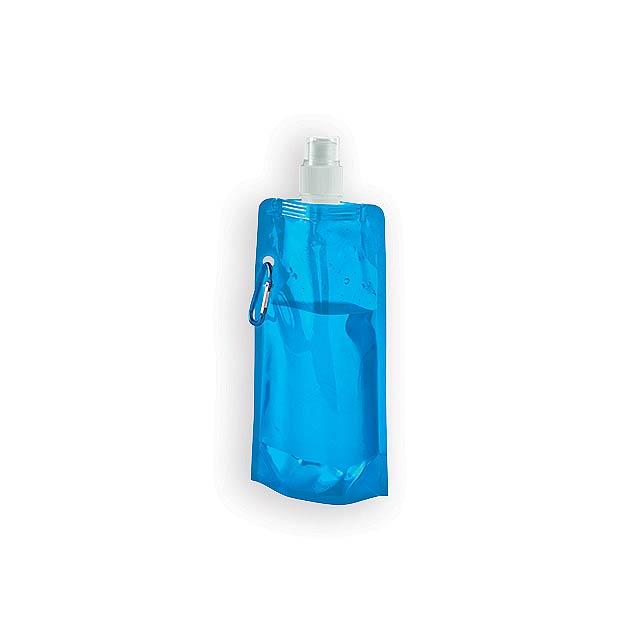 DONATA II plastová skládací láhev, 460 ml, Světle modrá - modrá
