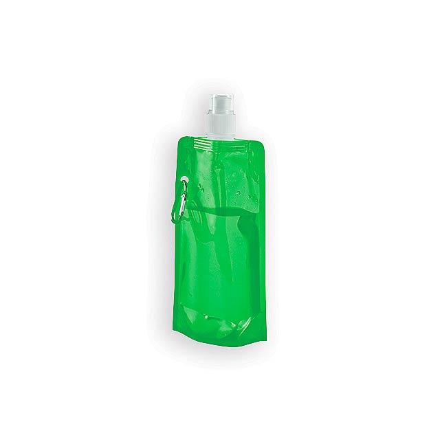 DONATA II plastová skládací láhev, 460 ml, Světle zelená - zelená
