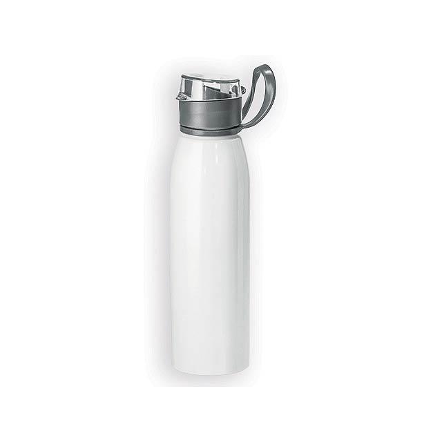 BELONA hliníková outdoorová láhev, 650 ml, Bílá - bílá