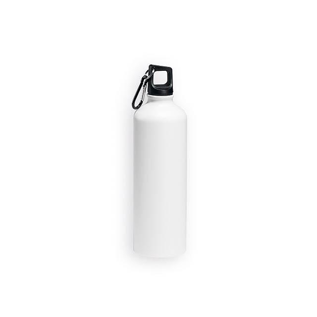 SPORTY hliníková sportovní láhev, 800 ml, Bílá - bílá