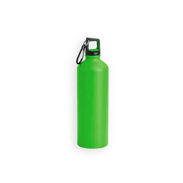 SPORTY hliníková sportovní láhev, 800 ml, Světle zelená - zelená