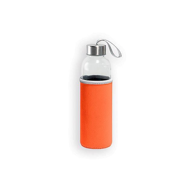 ZAYNA skleněná sportovní láhev, 520 ml, Oranžová - oranžová