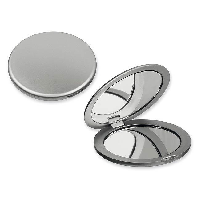 MEIRA - Plastic pocket mirror. - silver