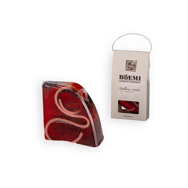 CRISTALLO dárkové mýdlo v krabičce, vánoční, Červená - červená