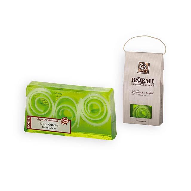 CRISTALLO dárkové mýdlo v krabičce, cubeba, Limetkově zelená - zelená