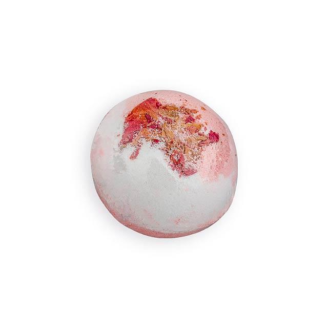 SPARKLING BALL šumivá koule do koupele, jahoda s jogurtem, 100 g, Vícebarevná - multicolor