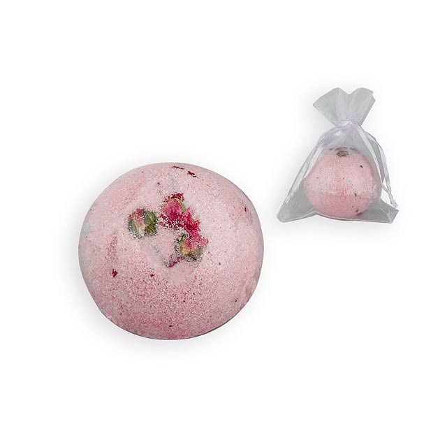 SPARKLING BALL šumivá koule do koupele, růže, 100 g, Růžová - růžová