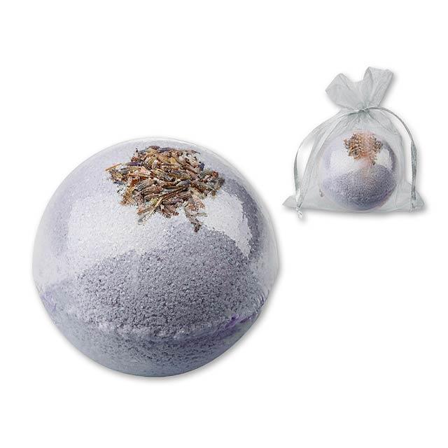 SPARKLING BALL šumivá koule do koupele, levandule, 100 g, Fialová - fialová