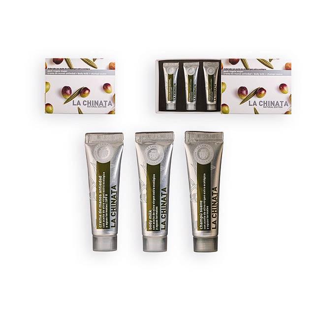 MINI SET WOMEN dámský kosmetický mini set-tělové mléko, šampon, krém, Vícebarevná - multicolor