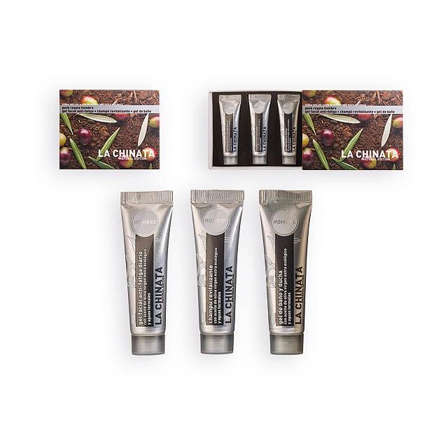 MINI SET MEN pánský kosmetický mini set-gel na obličej, sprch. gel, šampon, Vícebarevná - multicolor