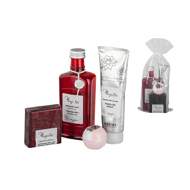 NATALE SET kosmetická sada vánoce-sprch. gel, krém na ruce, mýdlo, šum. koule, Vícebarevná - multicolor