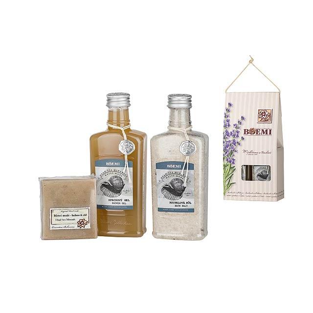 MAR MORTO SET kosmetická sada mrtvé moře-sprch. gel, koupelová sůl,mýdlo, Vícebarevná - multicolor