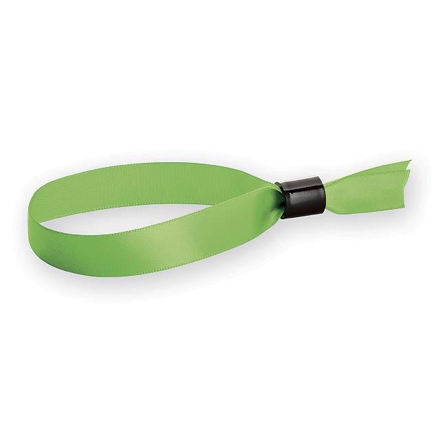 SATIN saténový náramek, Světle zelená - zelená