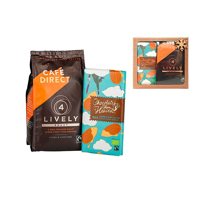 LIVELY BOX dárková sada mleté kávy 227 g a čokolády 100 g, Vícebarevná - multicolor