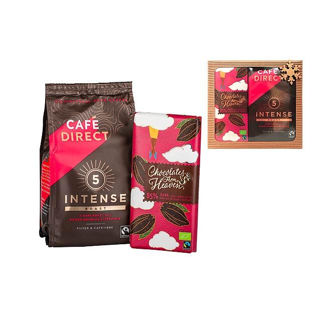 INTENSE BOX dárková sada mleté kávy 227 g a čokolády 100 g, Vícebarevná - multicolor