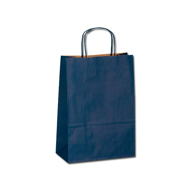 TWISTER - Paper gift bag. - blue