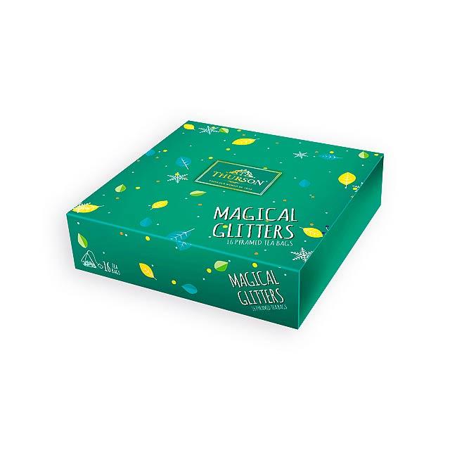 MAGICAL GLITTERS GREEN variace 4 druhů čajů, 16 sáčků, 32 g, Zelená - zelená