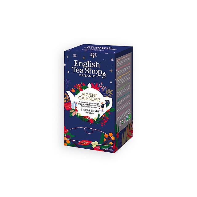 ADVENT TEA BIO sypaný čaj, 25 ks sáčků, 13 příchutí, 50g, Vícebarevná - multicolor