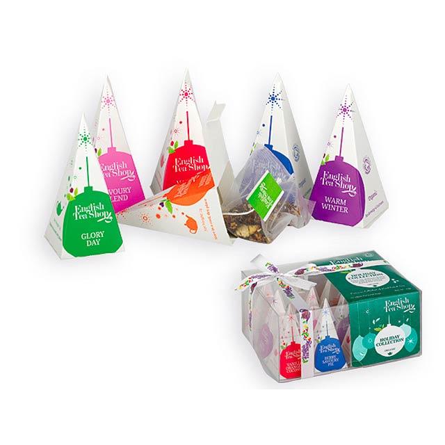 WINTER PYRAMIDS BIO sypaný čaj, 12 ks pyramidových čajů, 6 příchutí, 24g, Vícebarevná - multicolor