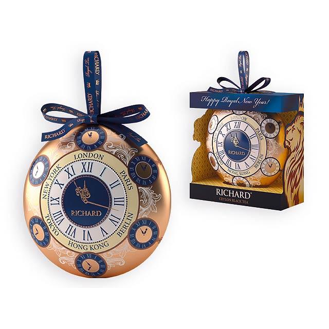 RICHARD CLOCK II sypaný černý čaj v dárkovém balení, 20g, Vícebarevná - multicolor