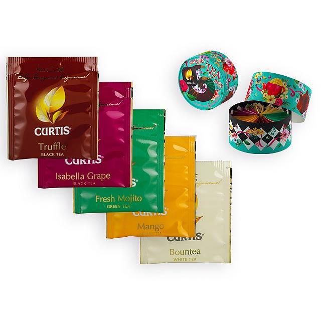 CURTIS BOX dárková sada čajů, 25 sáčků, 47 g, Světle zelená - zelená