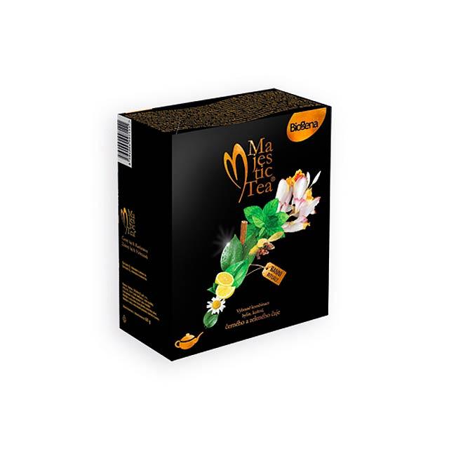 MAJESTIC DUO aromatizovaný černý a zelený čaj, 40 sáčků, Vícebarevná - multicolor