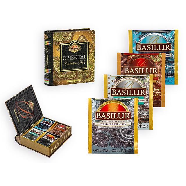 ORIENTAL BOOK dárková kolekce čajů, 4 druhy, 32 sáčků, 60g, Vícebarevná - multicolor