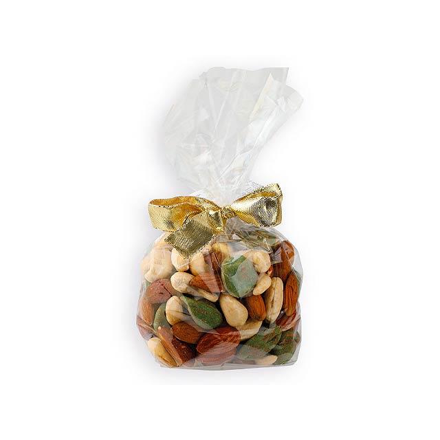 WELLY dárkový pytlík s mixem ořechů, 150g, Vícebarevná - multicolor