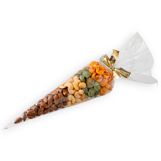 GANTY dárkový kornout se slanými oříšky a kukuřicí, 200g, Vícebarevná - multicolor