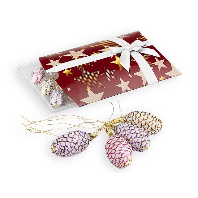CHOCOLATE CONES čokoládové šišky z mléčné čokolády s náplní, 187,5g, Vícebarevná - multicolor