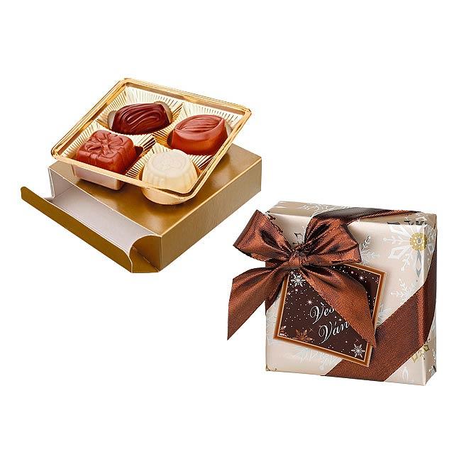 CHARMANT III výběr belgických pralinek v dárkovém balení, 50 g, Vícebarevná - multicolor