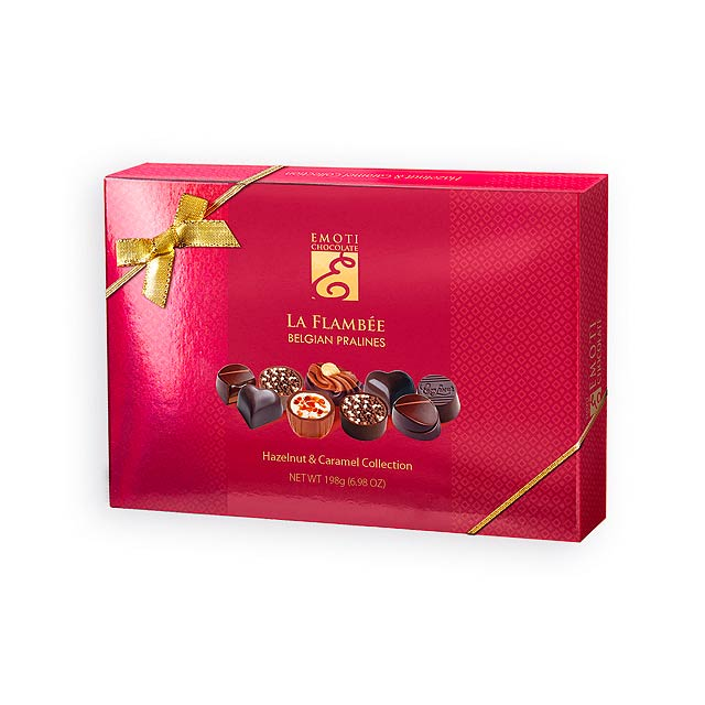 SWEET BOX Výběr belgických pralinek s náplní v dárkovém balení, 198g., Červená - červená