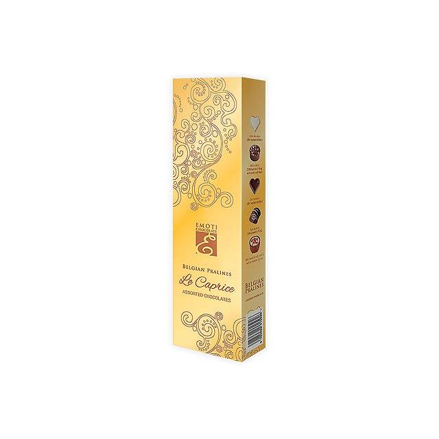 ORNAMENT GOLD výběr belgických pralinek v dárkovém balení, 65 g, Zlatá - zlatá