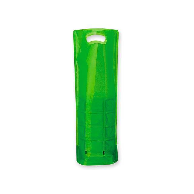 COOLIT - plastový chladící obal na 1 láhev vína - zelená