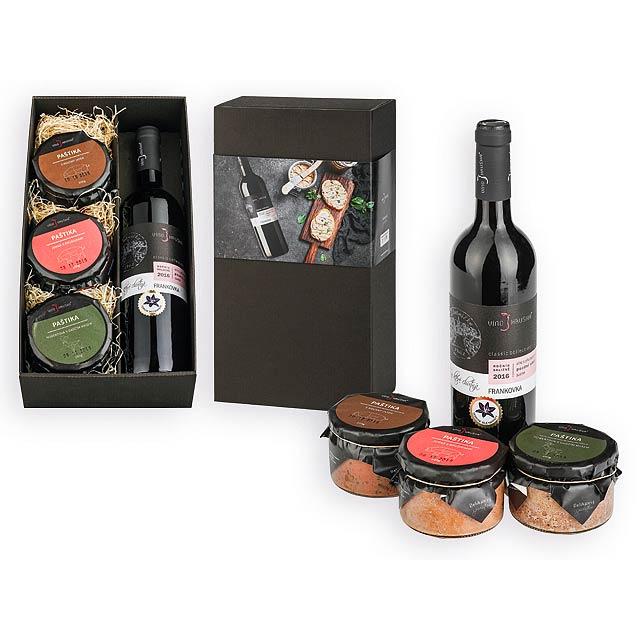 RED PLEASURE dár. sada-variace paštik (3ks), červené víno, Vícebarevná - multicolor