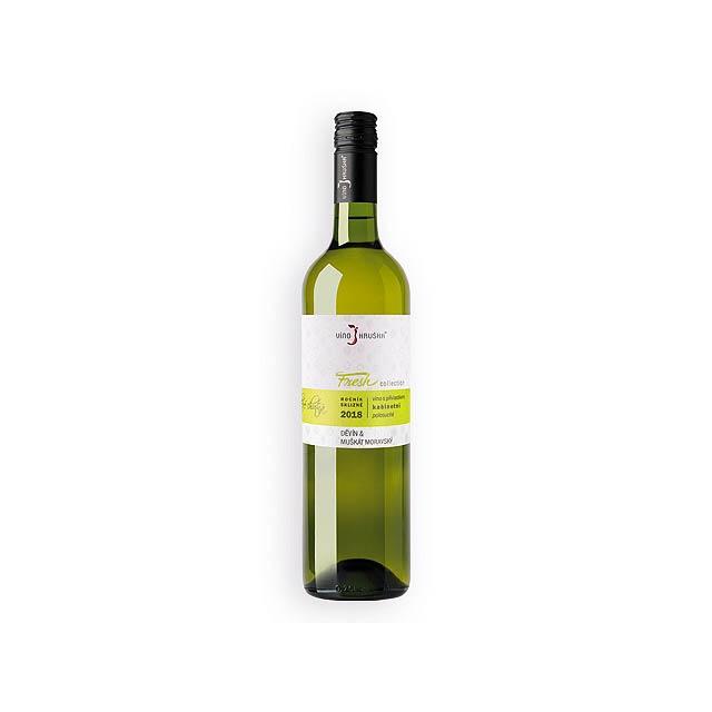 DĚVÍN MUŠKÁT FRESH kabinetní víno, polosuché, 750 ml, VÍNO HRUŠKA, Vícebarevná - multicolor