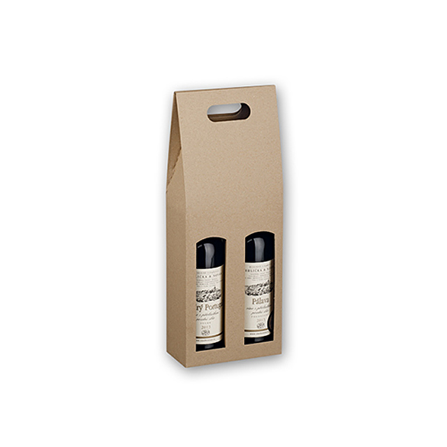 Double Box Paper Gift Box For Two Bottles Of Wine