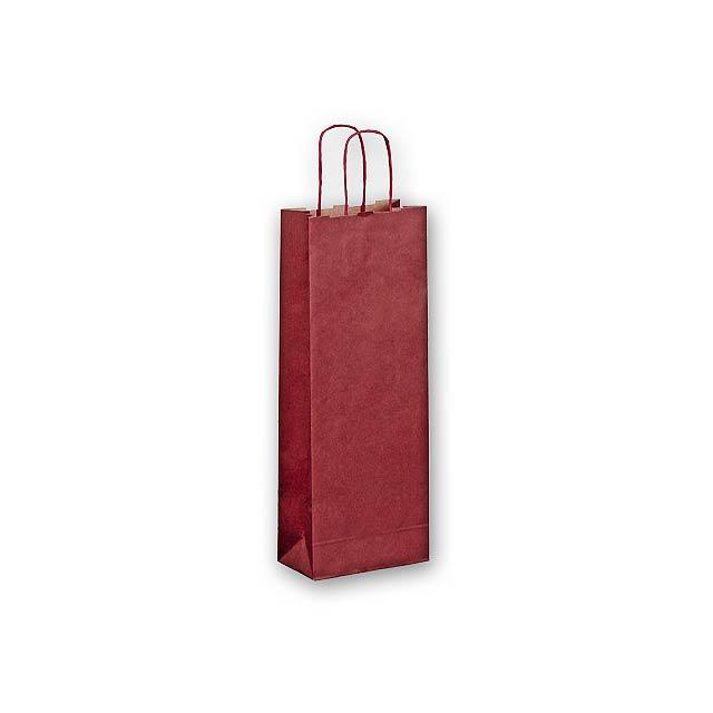 OLGA - vánoční papírová taška - vínová
