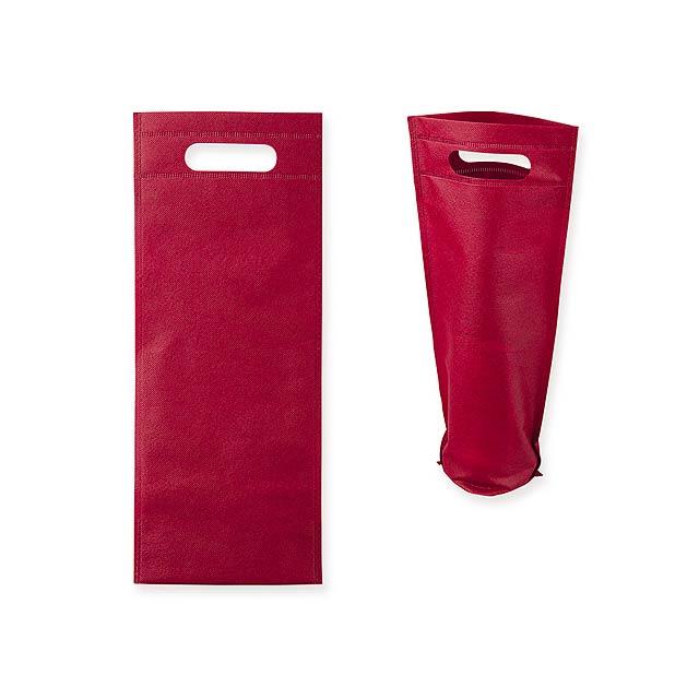 REINA - Dárková taška z netkané textilie na 1 láhev vína, 80 g/m2.      - vínová