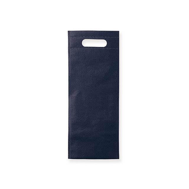 REINA - Dárková taška z netkané textilie na 1 láhev vína, 80 g/m2.      - modrá