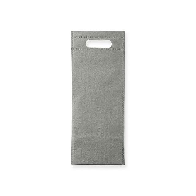 REINA - Dárková taška z netkané textilie na 1 láhev vína, 80 g/m2.      - šedá