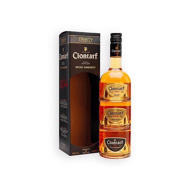 CLONTARF CLONTARF set 3 druhů whiskey, obsah alk. 40%, 600 ml, Vícebarevná - multicolor