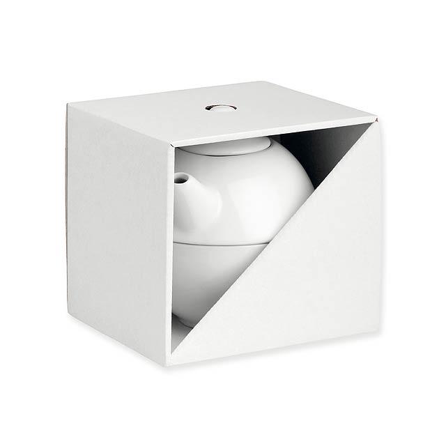 GB TEASET II - Dárková papírová krabička.            - bílá
