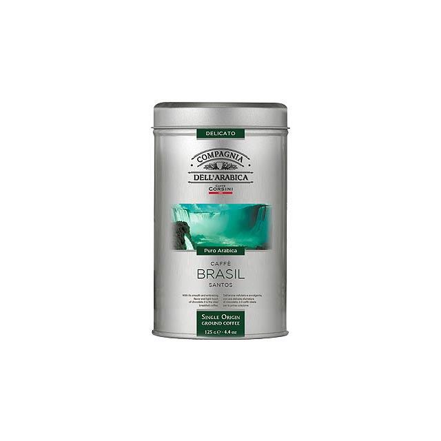 CORSINI pražená mletá káva BRASIL, 100% arabika, 125 g, Zelená - multicolor