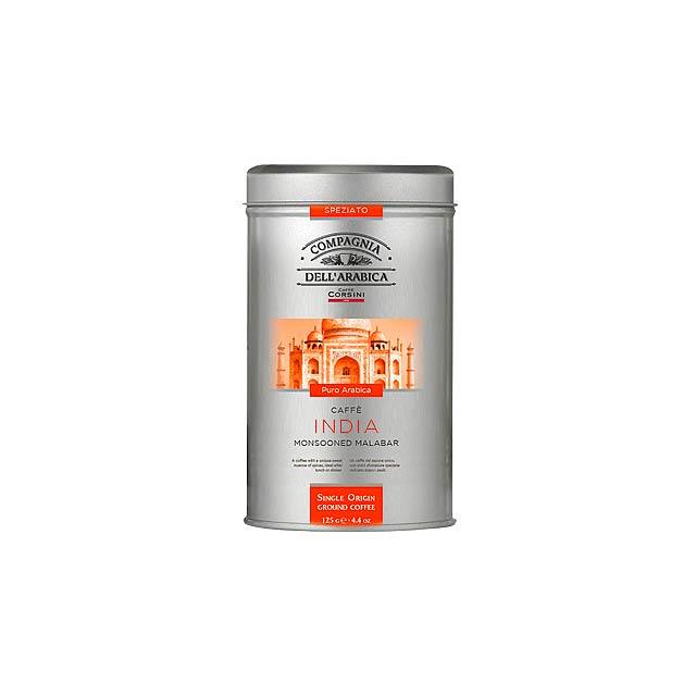 CORSINI pražená mletá káva INDIA, 100% arabika, 125 g, Oranžová - multicolor